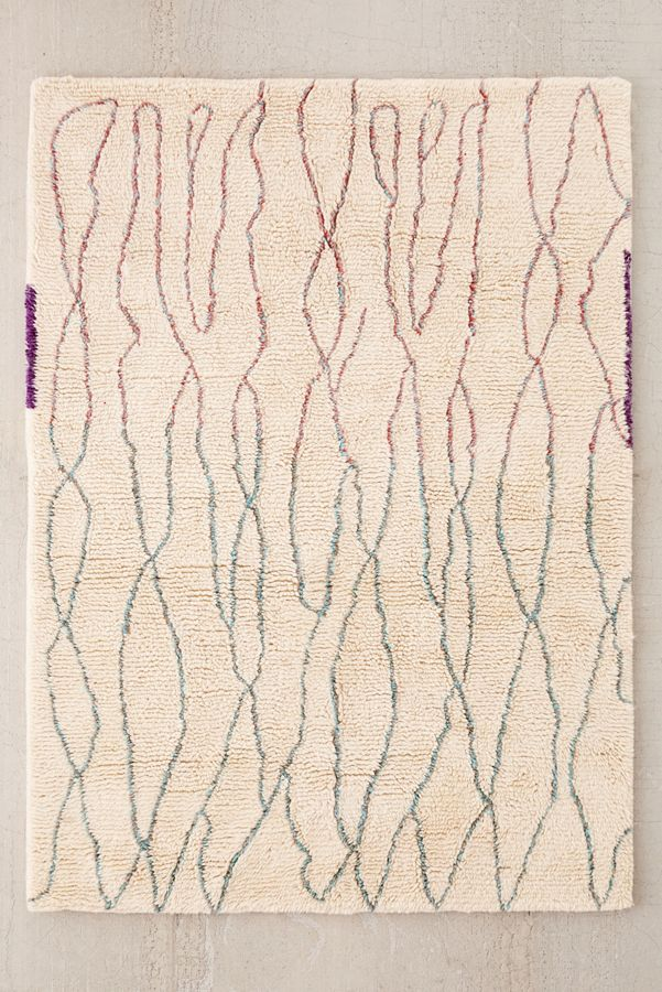 Slide View 1 Diamond Lines Shag Rug