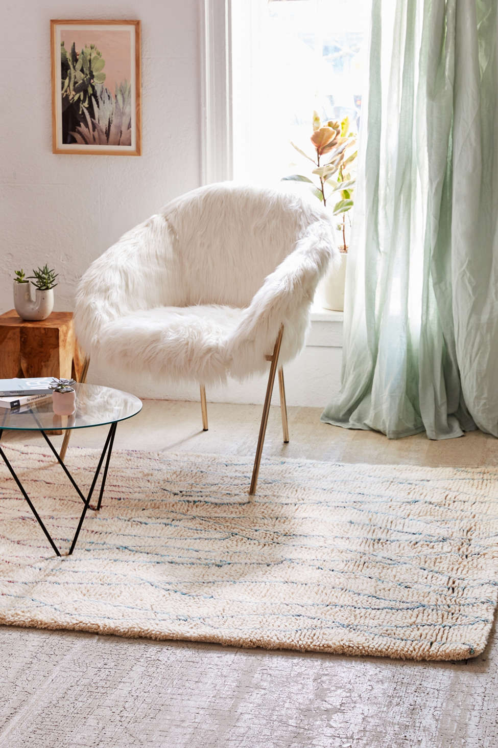 moroccan diamond shag rug | urban outfitters