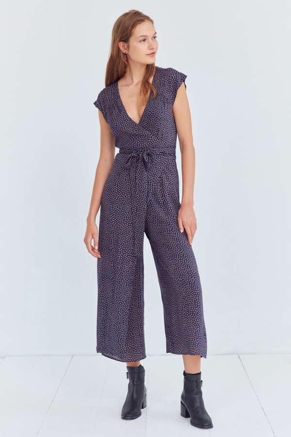 Kimchi Blue Shea Printed Wrap Jumpsuit