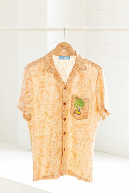 Vintage OP '90s Peach Button-Down Shirt