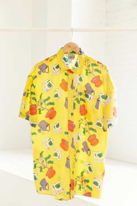 Vintage '80s Money Tree Short Sleeve Button-Down Shirt