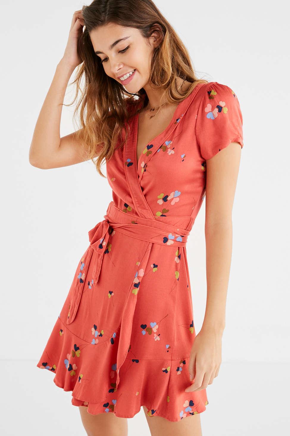 Kimchi Blue Rita Wrap Dress Urban Outfitters