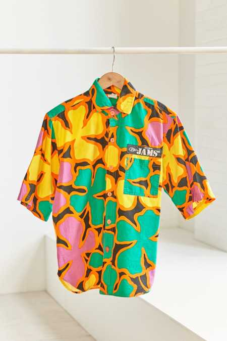 Vintage Jams '90s Tropical Short Sleeve Button-Down Shirt