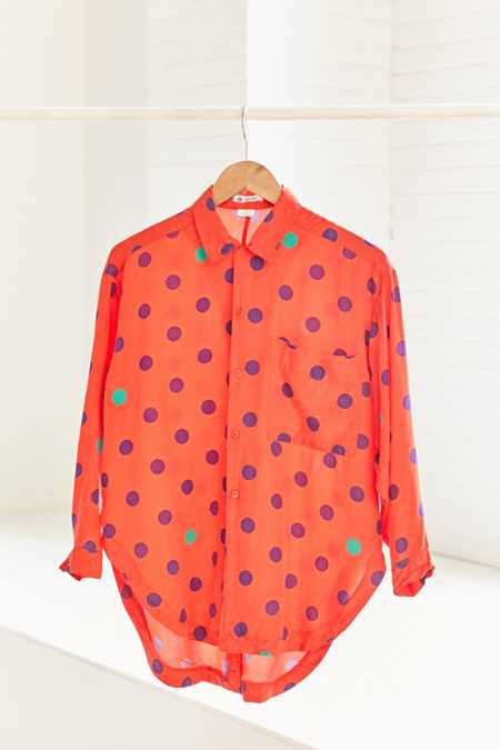 Vintage Esprit '80s Polka Dot Button-Down Shirt