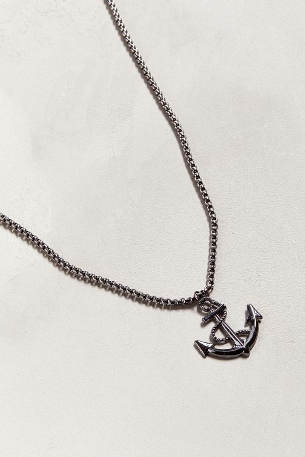Uo anchor pendant necklace urban outfitters slide view 1 uo anchor pendant necklace aloadofball Image collections