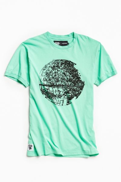 Le Fix Death Star Tee - Green S at Urban Outfitters