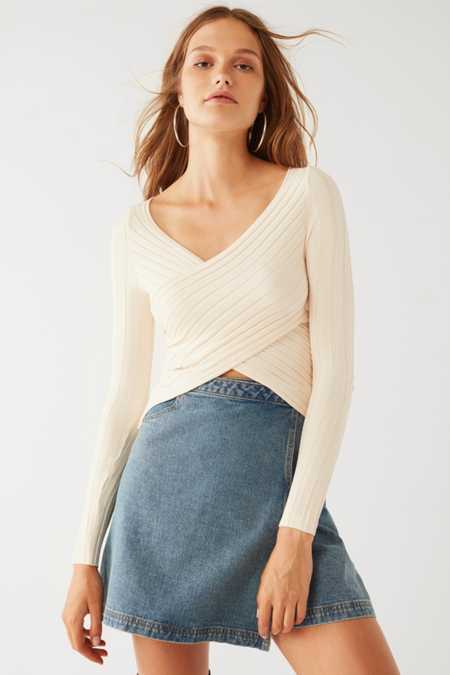 Silence + Noise Delaney Surplice Sweater