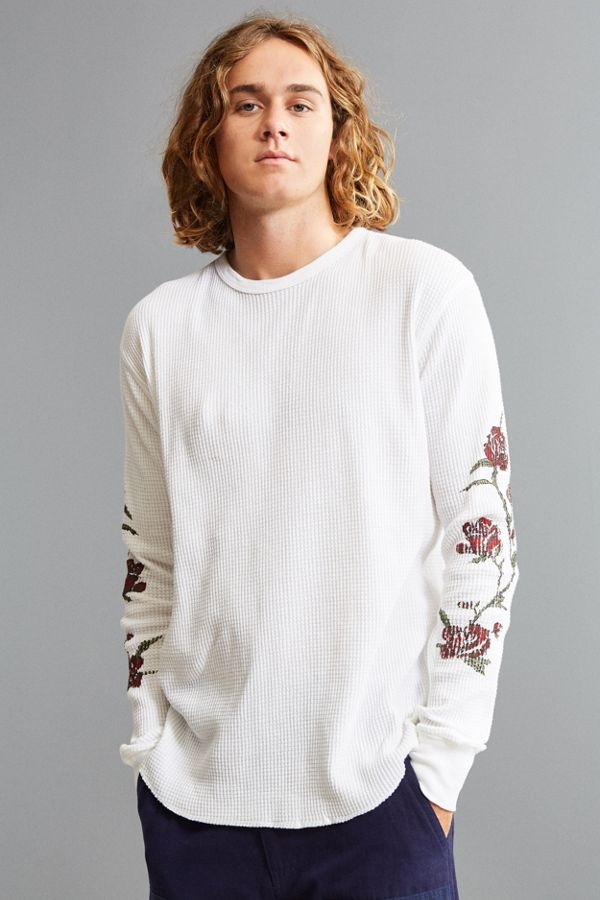 Uo printed waffle thermal long sleeve tee urban outfitters uo printed waffle thermal long sleeve tee publicscrutiny Choice Image