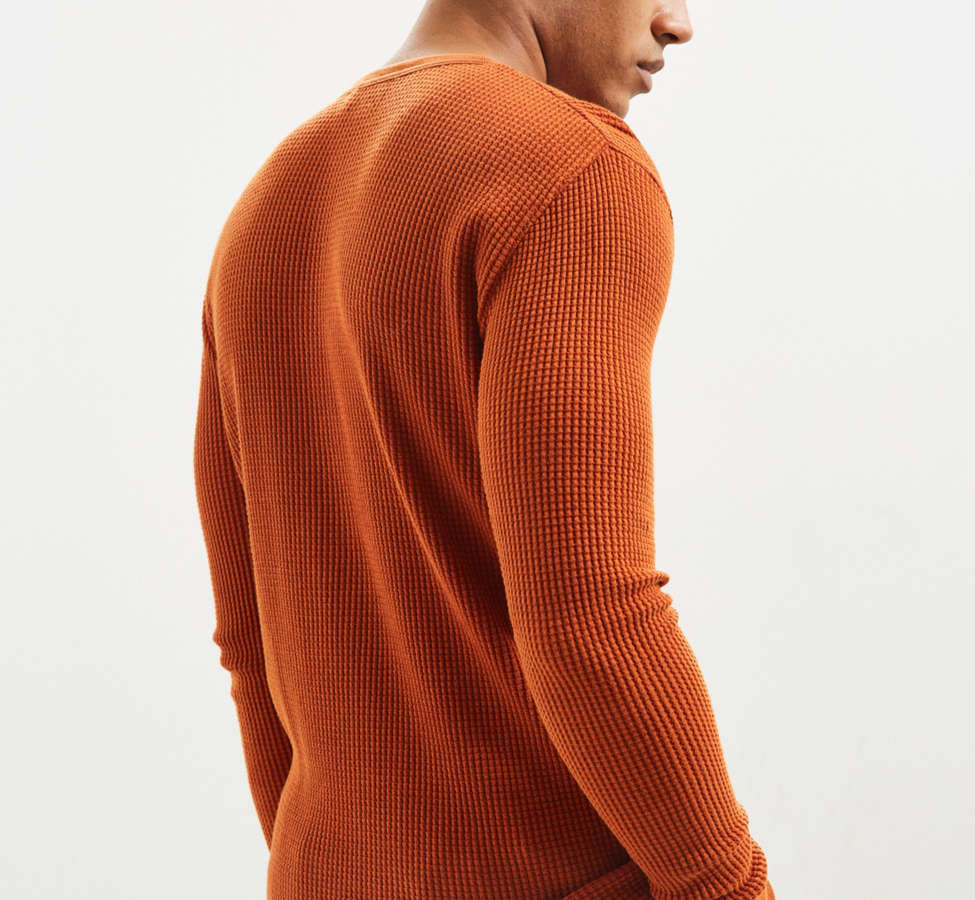 Slide View: 4: UO Zip Neck Thermal Long Sleeve Tee