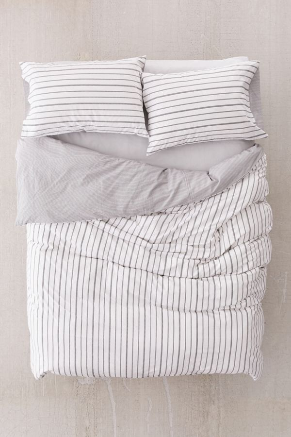 dp linen amazon handmade com in shipping duvet and natural grey covers white bedding striped reversible cover