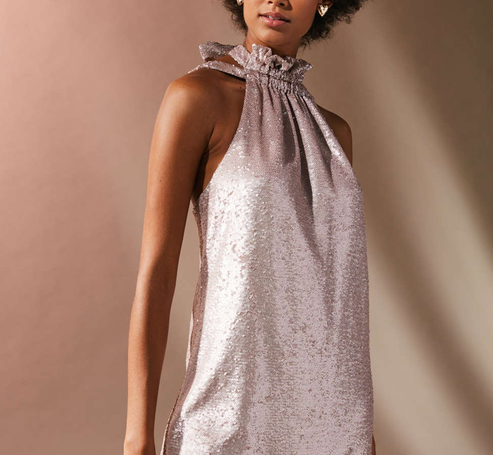 Slide View: 1: C/meo Collective Illuminated Sequin Mini Dress