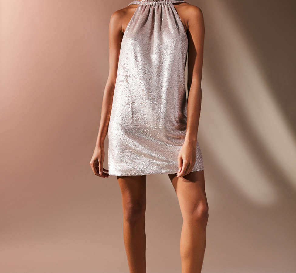 Slide View: 4: C/meo Collective Illuminated Sequin Mini Dress