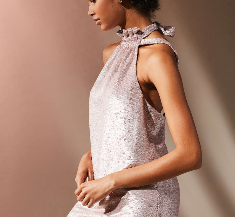 Slide View: 6: C/meo Collective Illuminated Sequin Mini Dress