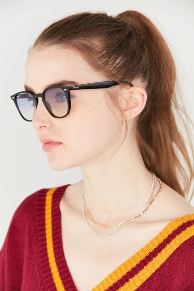 Ray-Ban Square Gradient Sunglasses - Black One Size at Urban Outfitters