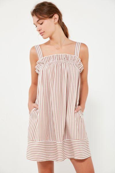 Striped mini dress style