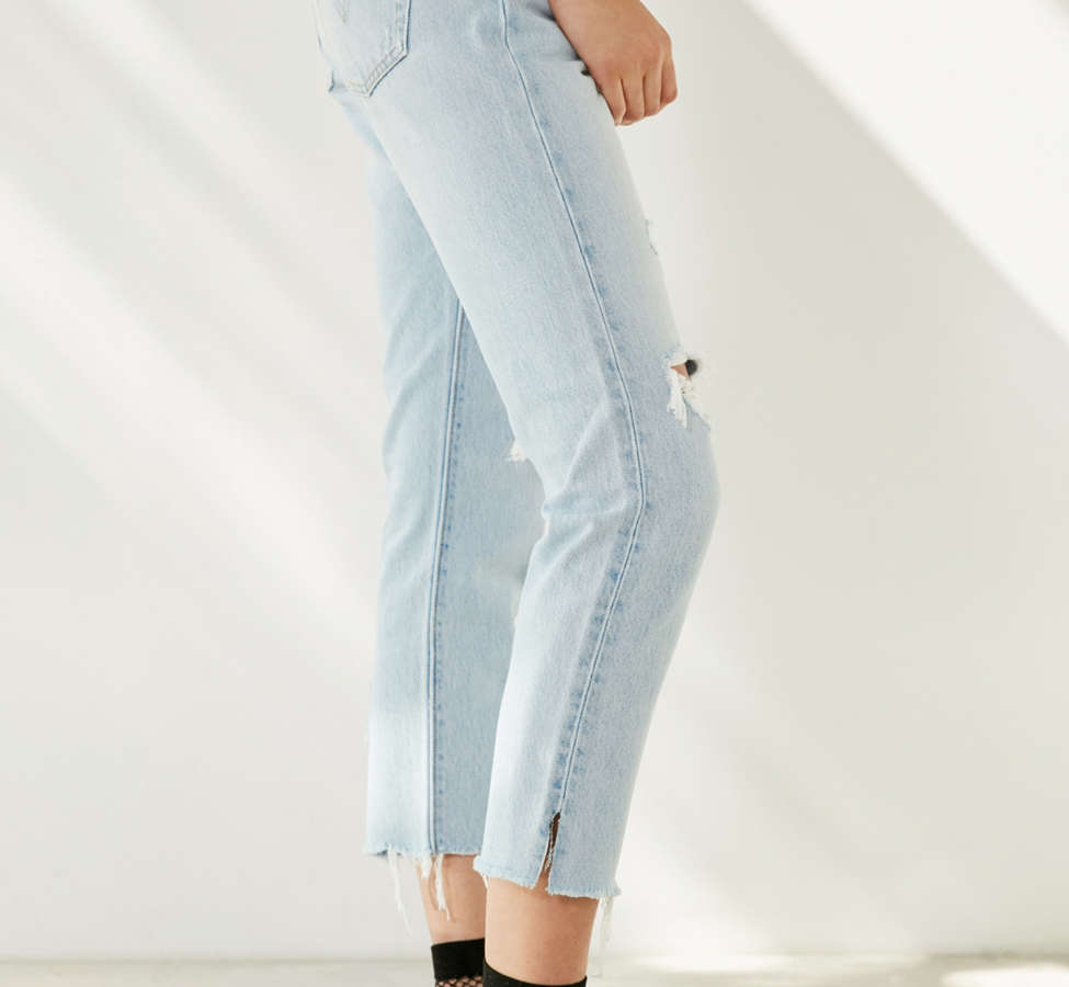 Slide View: 3: Levi's 501 Cropped Skinny Jean - Bowie Blue