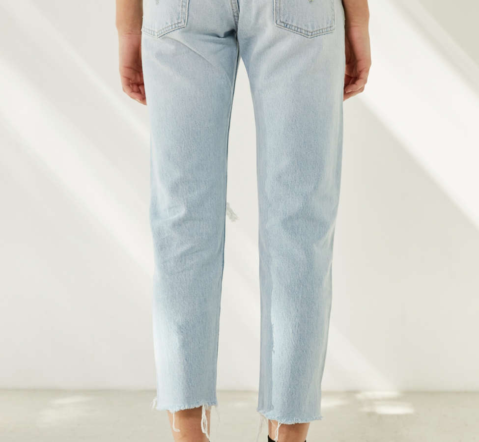 Slide View: 6: Levi's 501 Cropped Skinny Jean - Bowie Blue
