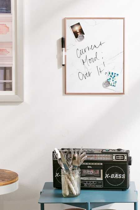 Marble Dry Erase Message Board
