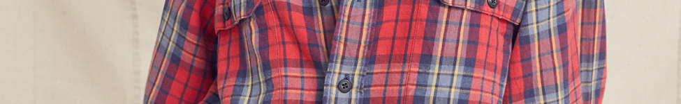 Thumbnail View 1: Urban Renewal Recycled Button-Down Peplum Flannel Shirt