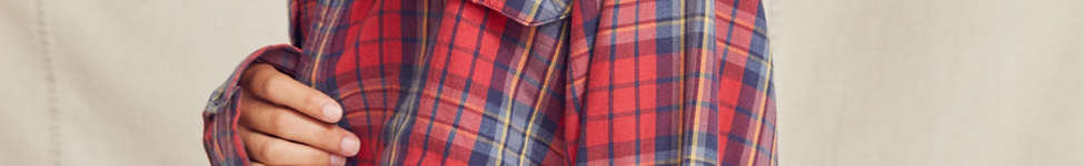 Thumbnail View 3: Urban Renewal Recycled Button-Down Peplum Flannel Shirt