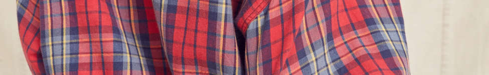 Thumbnail View 6: Urban Renewal Recycled Button-Down Peplum Flannel Shirt