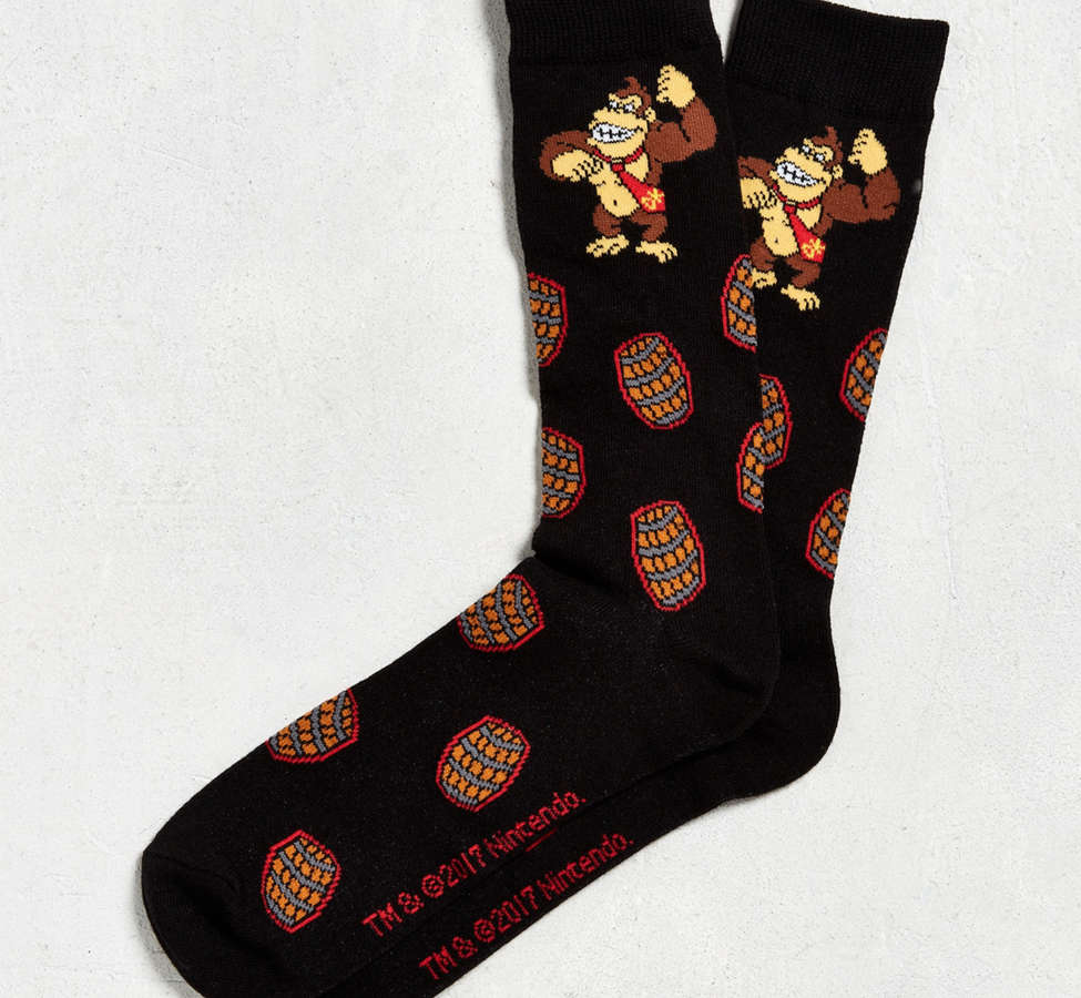 Slide View: 1: Donkey Kong Barrels Sock