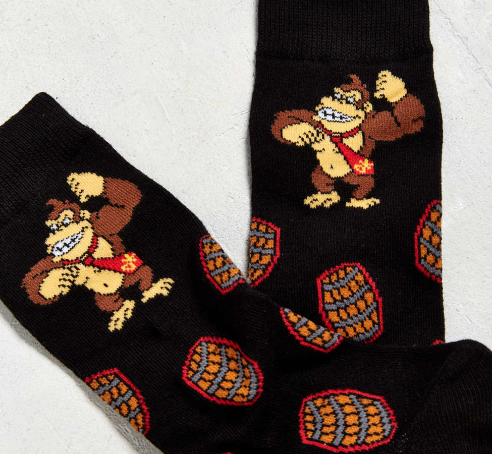 Slide View: 3: Donkey Kong Barrels Sock
