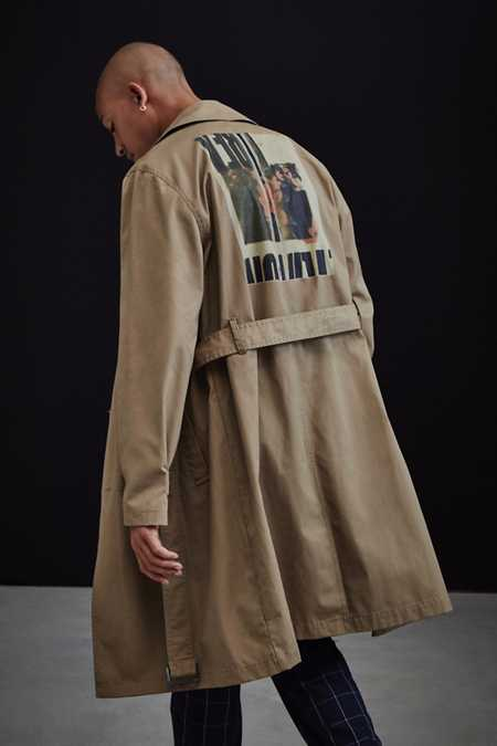 UO Double-Breasted Trench Coat