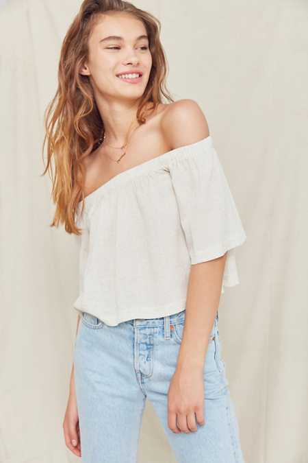 Urban Renewal Remade Gauzy Off-The-Shoulder Top