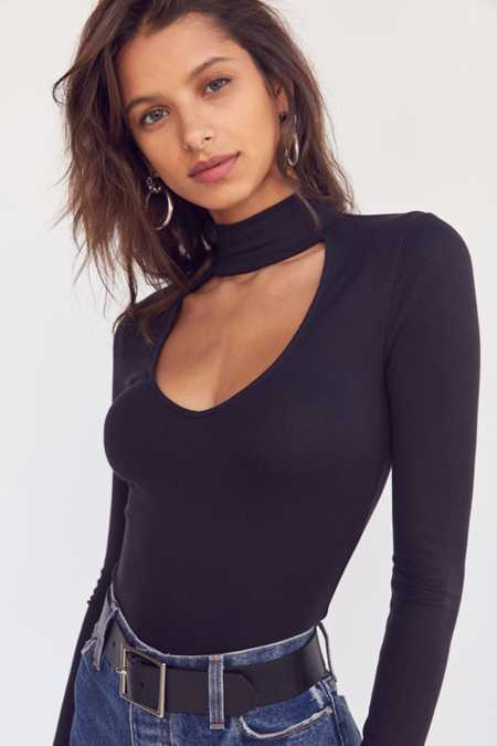 Silence + Noise Dallas Cut-Out Turtleneck Top
