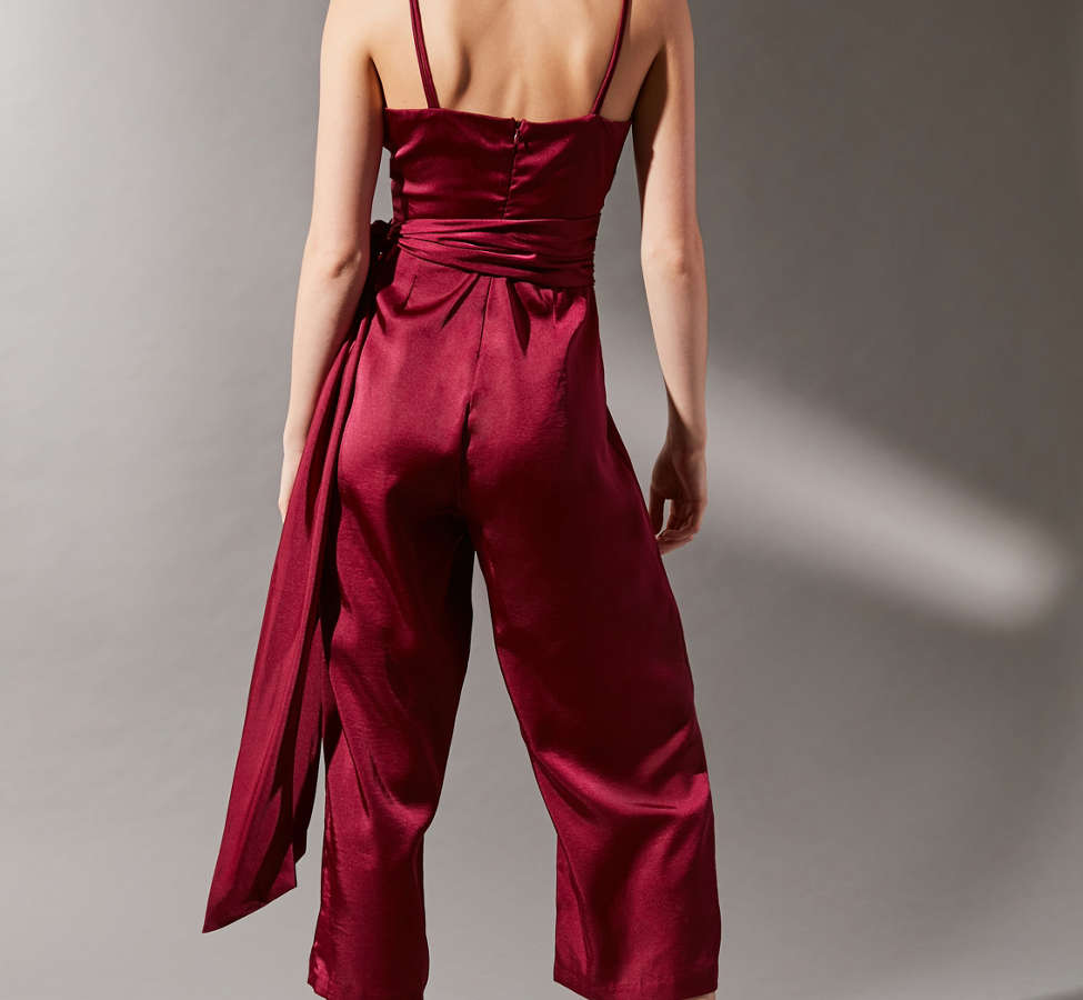 Slide View: 2: LOST INK Satin Strappy Jumpsuit