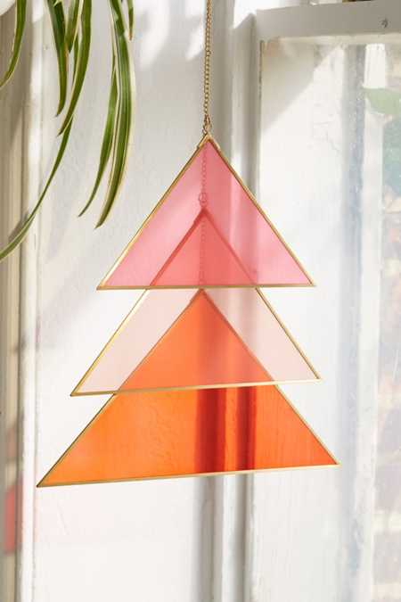 Triangle Glass Wall Hanging