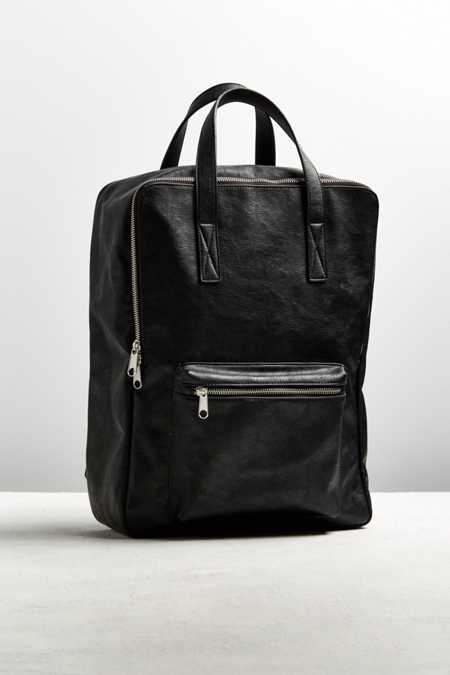 UO Square Faux Leather Backpack