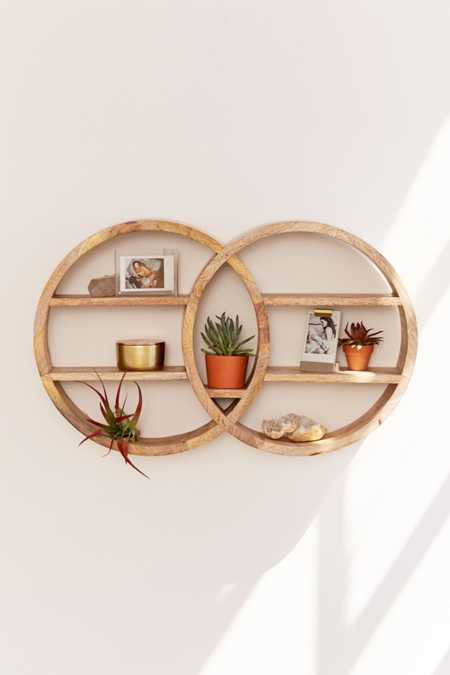 Dahlila Double Round Wall Shelf