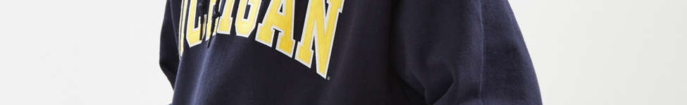 Thumbnail View 4: Champion University Of Michigan Eco Fleece Hoodie Sweatshirt