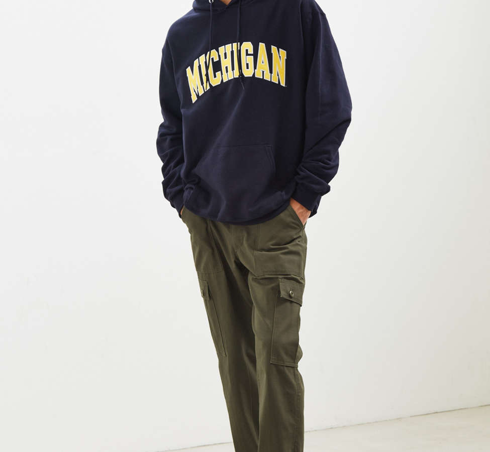 Slide View: 6: Champion University Of Michigan Eco Fleece Hoodie Sweatshirt