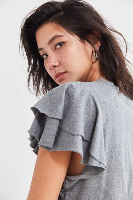 Kimchi Blue Odette Ruffle Cropped Tee