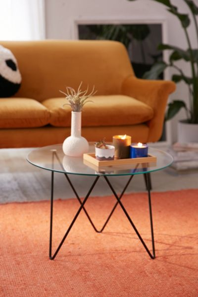 Anderson Glass Coffee Table - Black One Size at Urban Outfitters