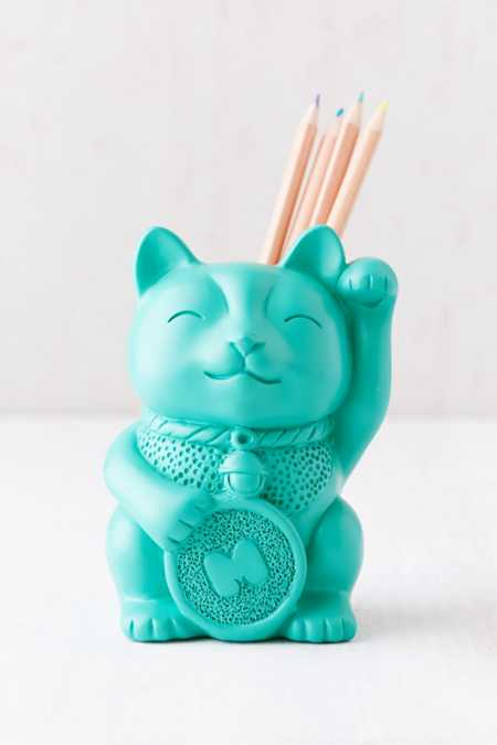 Lucky Cat Pencil Cup