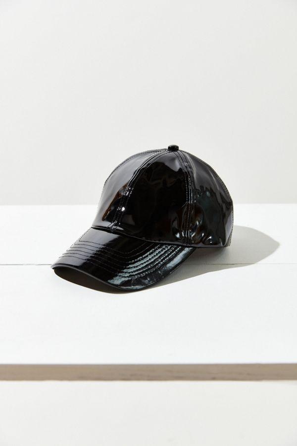 Rachel Patent Faux Leather Baseball Hat  6edb1a54b19