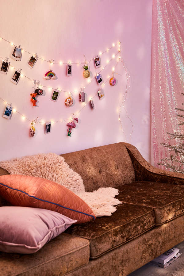 Photo clip firefly string lights urban outfitters - How to hang string lights in bedroom ...