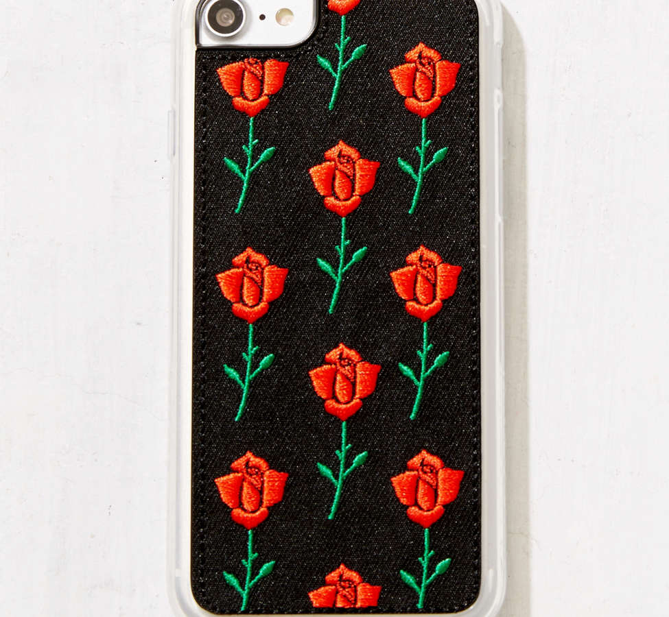 Slide View: 1: Zero Gravity Scarlet Rose Embroidered iPhone 8/7/6/6s Case