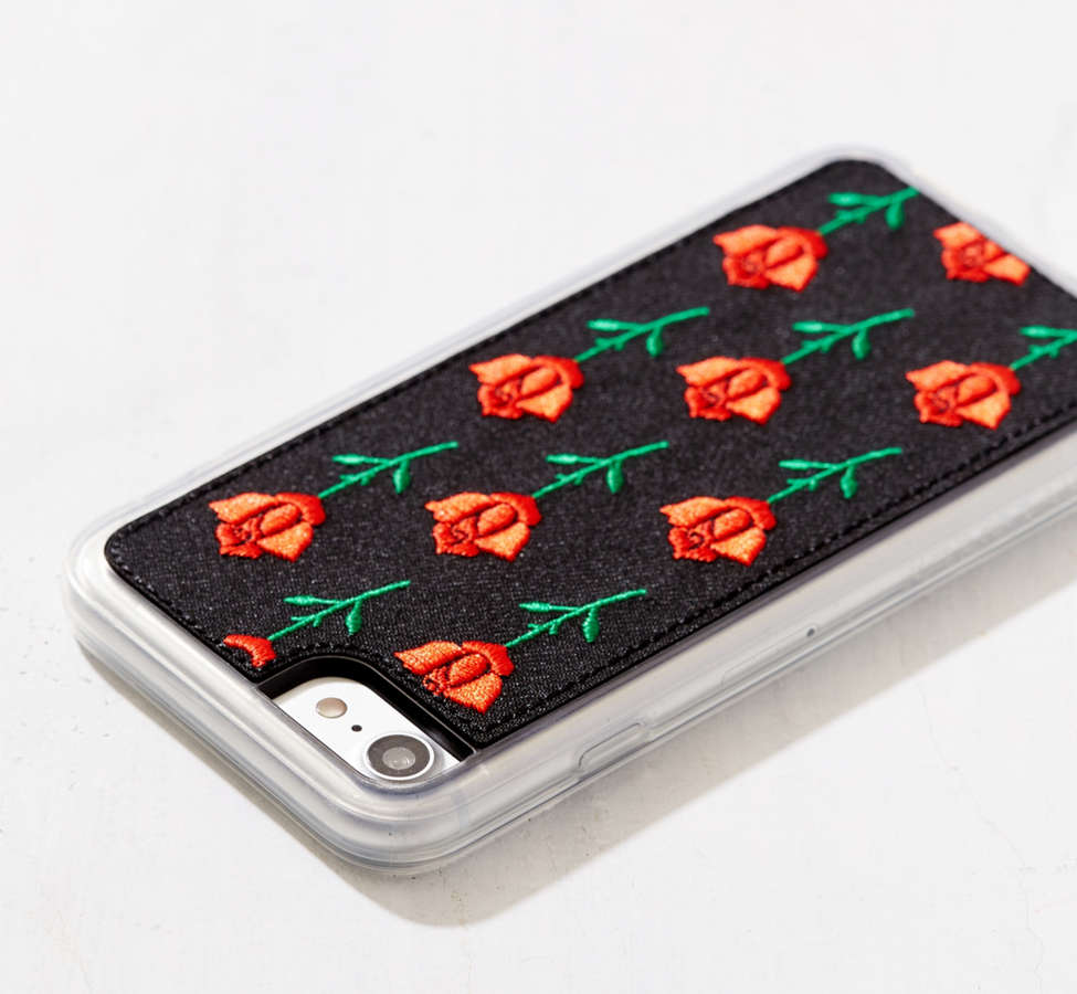 Slide View: 2: Zero Gravity Scarlet Rose Embroidered iPhone 8/7/6/6s Case