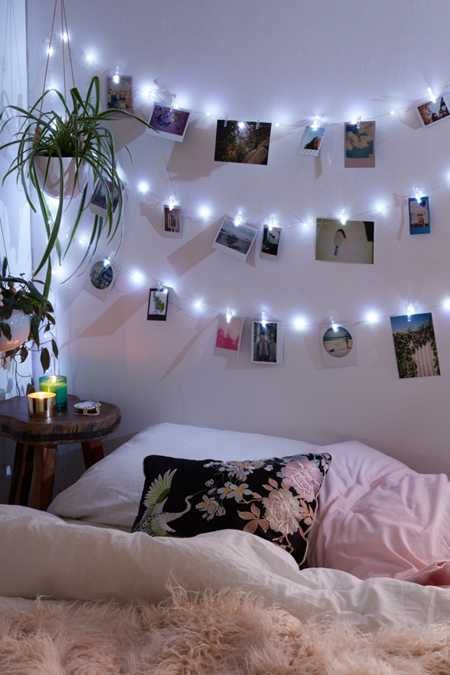 Lamps home lighting urban outfitters for Young woman bedroom and string lights