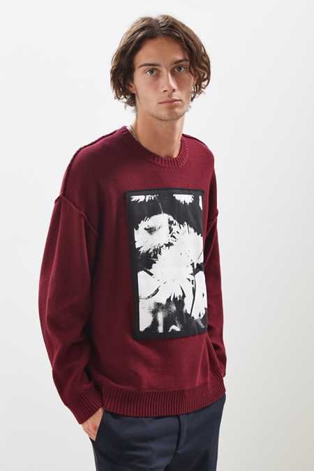 UO Artwork Patch Crew Neck Sweater