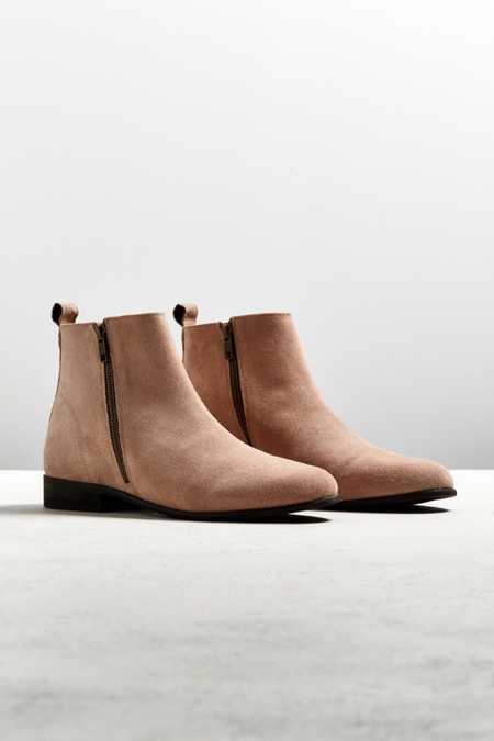 UO Double-Zip Suede Chelsea Boot