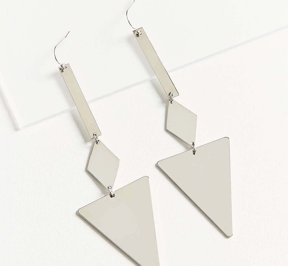 Slide View: 2: Jetta Mirrored Statement Drop Earring