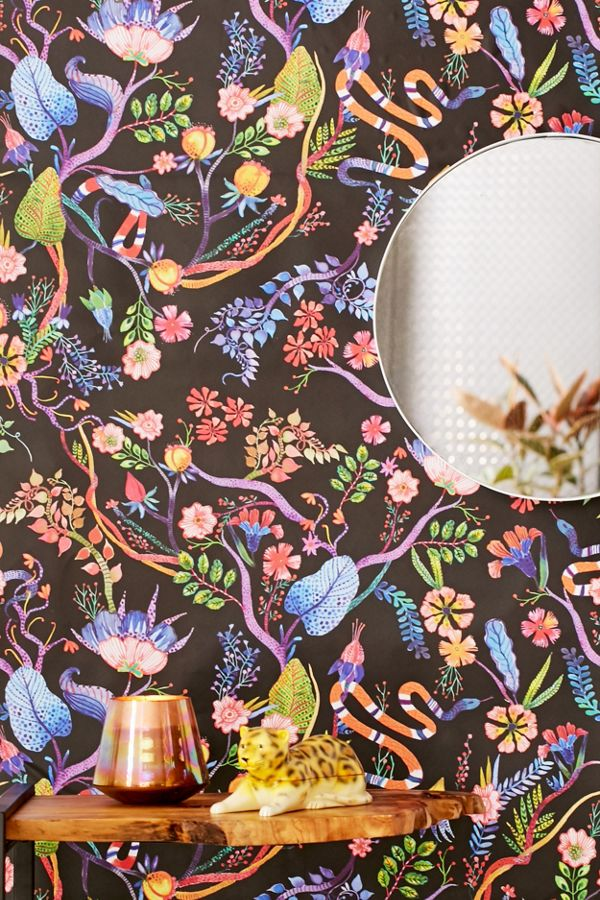 Slide View 1 Whimsical Floral Removable Wallpaper