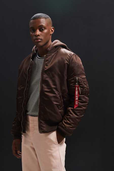 Alpha Industries Hooded MA-1 Bomber Jacket