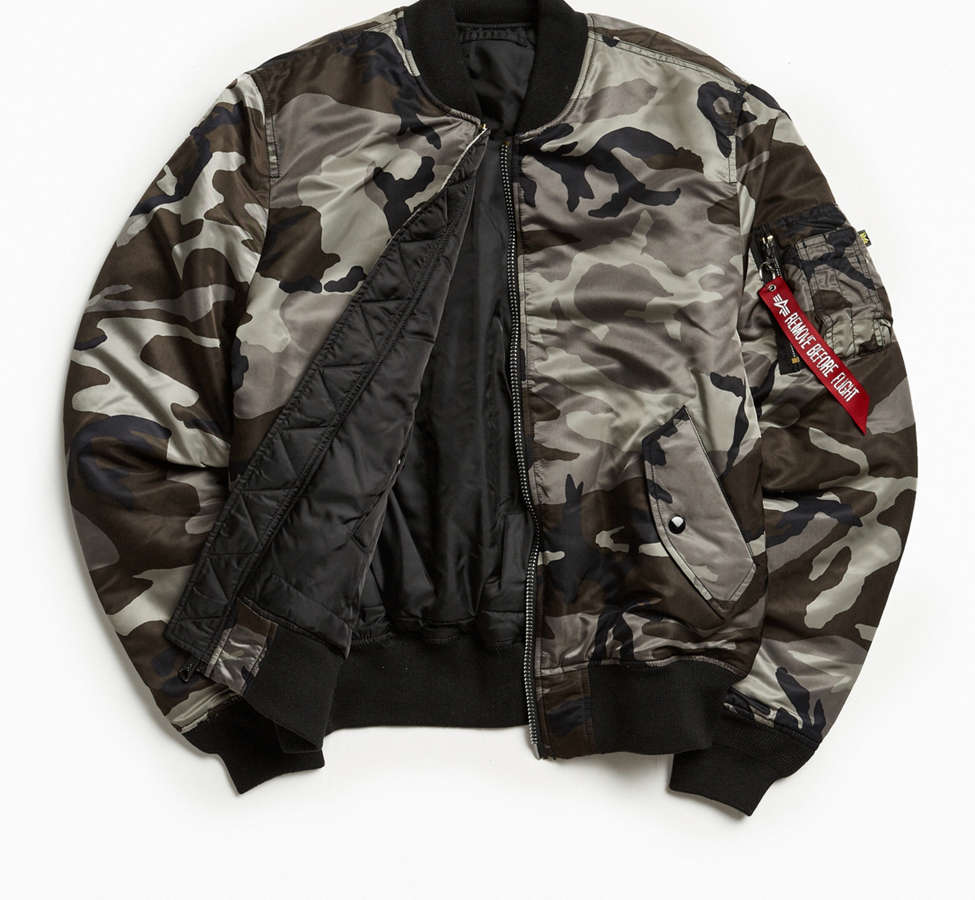 Slide View: 1: Alpha Industries MA-1 Slim Fit Bomber Jacket